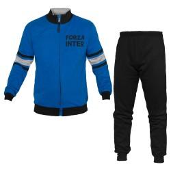 Pigiama Homewear Uomo INTER Prodotto Ufficiale Cotone Felpato art.IN14098