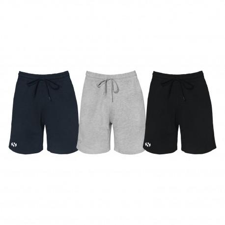 Tri-Pack Shorts Bermuda Uomo SUPERGA Cotone Vari Colori Art.SMS21532